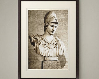 Ancient Roman bust photo art print. Classic look for home or office decor.  Size 8x10 or 11x14 inch.