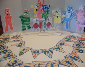 Yo Gabba Gabba Double sided centerpieces Two for 20.00