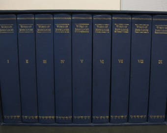 The Works of John Locke - The Ninth Edition - Nine Volumes Set in Slipcase.