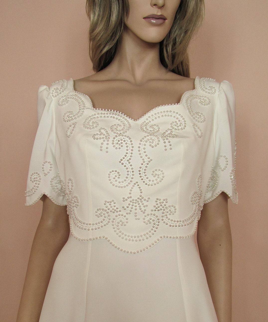 Brautkleid aus der 90er Jahre Brautkleid weißen Brautkleid