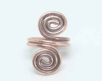 Spiral Ring, copper ring, classic minimalist boho jewellery