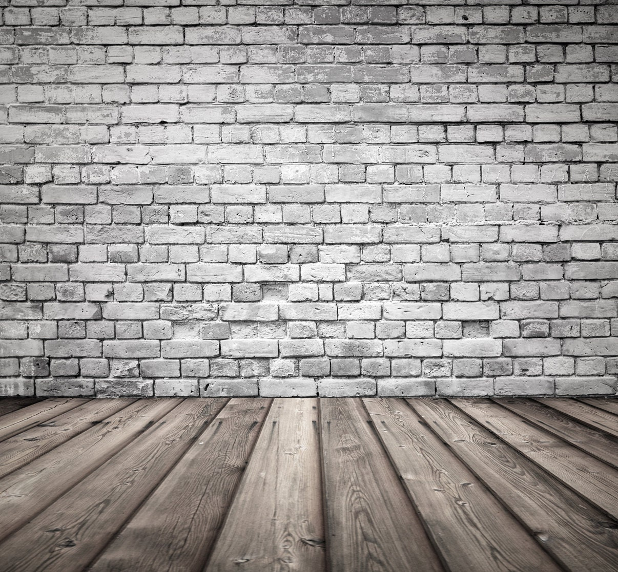 Hourwall Classicbrick Vintagewhite: Broken Grey Brick Backdrop Old White Brick Wall With Wood