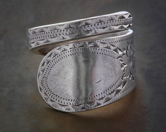 Women's Sterling Silver 1809-1810 Spoon Ring / Vintage Jewellery / Fashion / Boho Jewellery