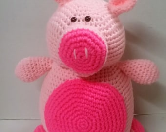 Pig/Crocheted Pig/Amigurumi/Farm Animal/Pink/Oink/Safe Toy for Child/Pink Pig/Plush Pig/Stuffed Animal/Toy Pig/Safe Toy for Toddler/Plush