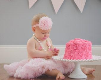 Shabby flower headband- Easter headband - Big flower headband- baby headband- girls flower headband, girls headband, baby headband, pink
