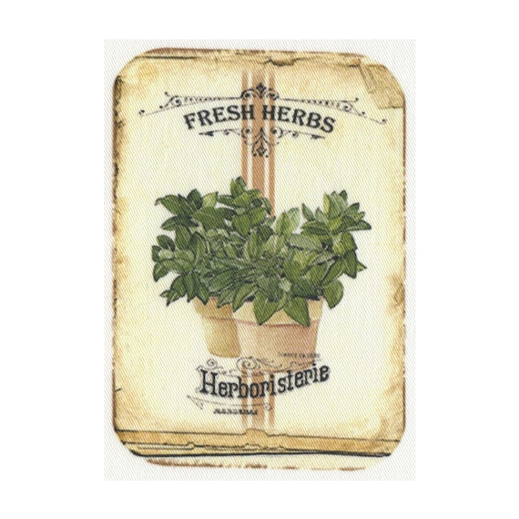 """Applied fusible - """"Fresh herbs"""" Collection AT405-9"""