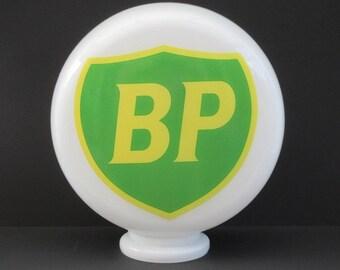 Gas Pump Mini Globe BP Style, Petrol Pump Glass Globe, Automobilia, Man Cave,