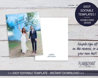 JUBILANT -  Thank You Card - Editable Templates - Custom Photo Thank You Card - Printable - Instant Download