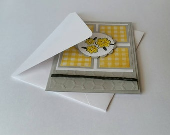 """Bright Yellow """"Thanks a Million"""" Card"""