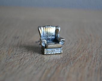 Vintage metal miniature chair