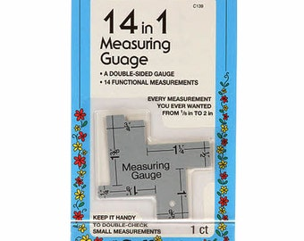 14-in-1 Measuring Gauge - Collins C139 - Aluminum Double Sided