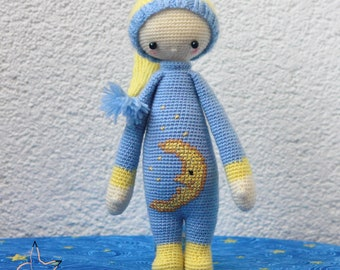 Sleeping doll Soft toy for baby Interior toy Crocheted toy