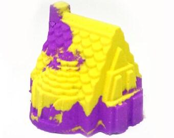 The little Dream House bath bomb; Foaming Bath Bomb; Beautiful Bath Art; Gift Idea; House Warming Gift; Moving Gift