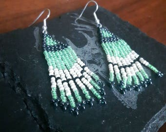 Electric Green Earrings