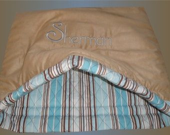 Dog Beds - Quilted Cotton Sacks - Dog Bed - Cat Sack - Pets - Dog Sacks - Includes Embroidered Personalization - LIMITED EDITION