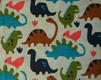Cotton fabric, 100% cotton dinosaur fabric, fabric for children, 60cm x 108cm