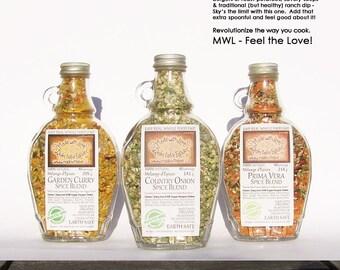 Spice Blends - Herb and Spice Mix - Organic Herb Spice & Veggie Blends - Pasta Sauce Mix - Dip Mix - BBQ Grill Rub - Salad Dressing Mix