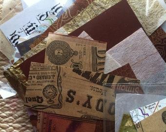 100 piece mini scrapbook papers, junk journal supply, scrap paper, paper destash, paper craft,