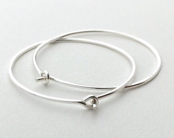 Big Hoop Earrings. Solid 925 Sterling Silver Hoops. Choose your size: Small 25mm, Medium 38mm, Large 50mm