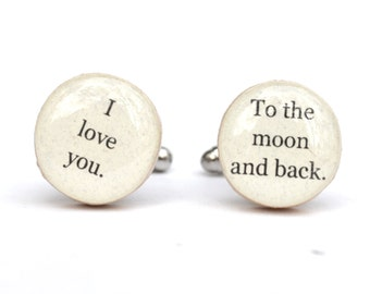 Mens cuff links, Gifts for Dad, Father's Day Gift, Wooden cufflinks