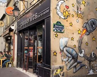 Paris Photography Butte aux Cailles cafe wall art fine art print