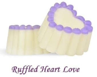 Ruffled Heart Love Soap