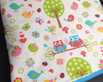 blanket / plaid baby owls and owls