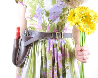 Gardener's Tool Belt. Leather garden tool belt. Leather tool belt. floral belt. gardening belt. garden belt. florist belt. handmade leather