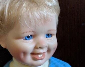Baby Boy Vintage Porcelain Doll