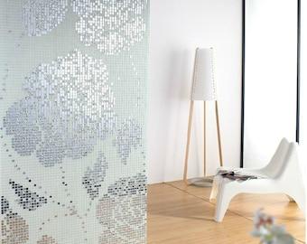 "Silver Glass Plated Wall Decoration White Mosaic Tile Murals Custom Making Floor Tiles Mural Bathroom Decor Tiles (6 PCS, 11.8""x11.8"" /each)"