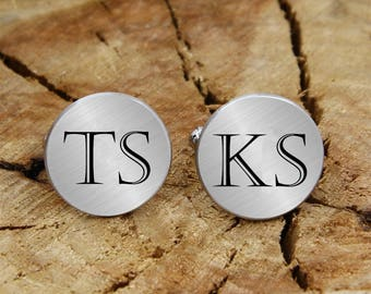 Engraved initials cuff links, personalized engraved, engraved cufflinks, custom personalized cufflinks tie clip, engraved wedding cufflinks