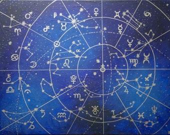 Digital Prints - Geometric Constellation Series Art in Various Sizes Glossy Pearl Art by Breanna Deis