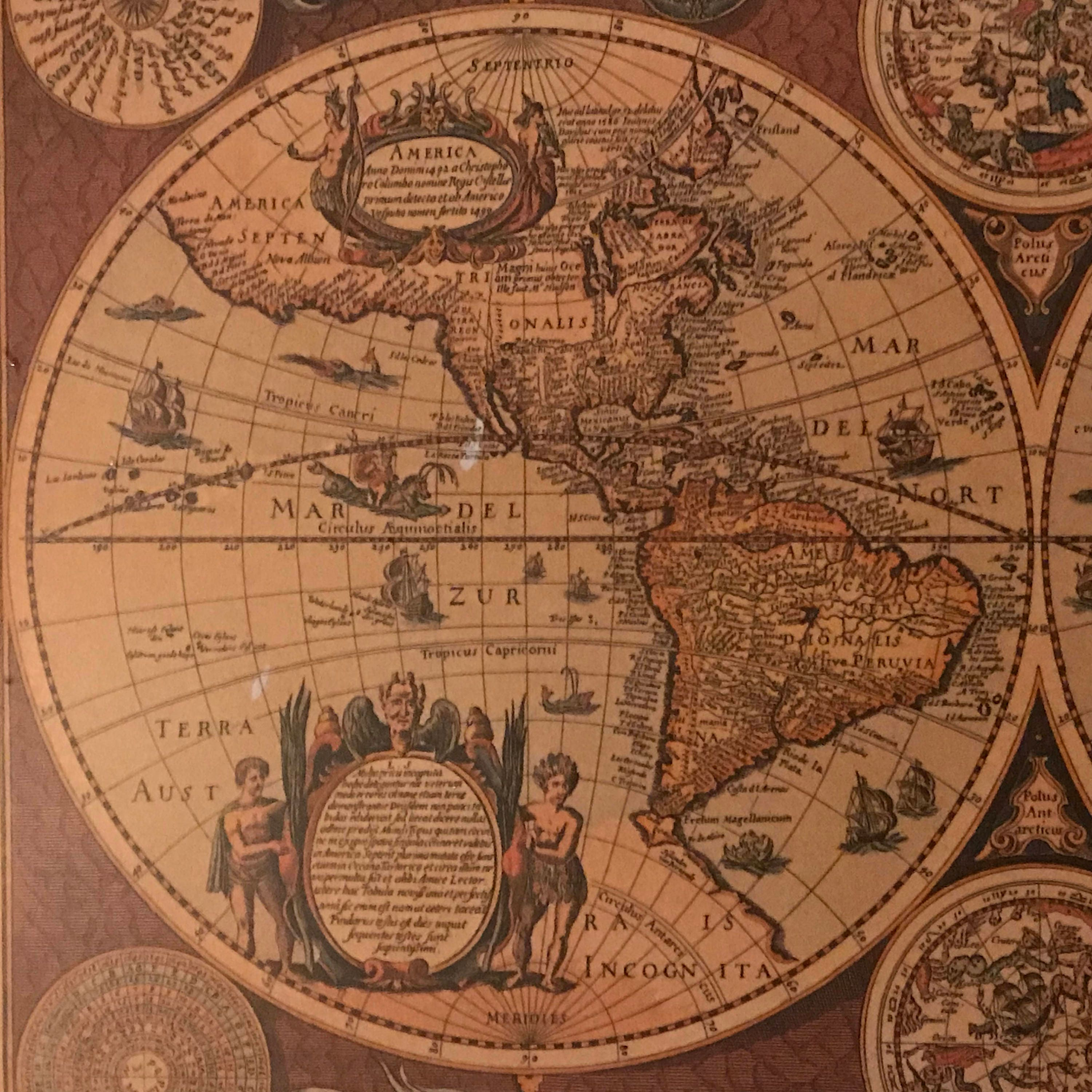 Old world map mirror wall hanging 35 wood frames sylvestri globe old world map mirror wall hanging 35 wood frames sylvestri globe decor nova totius terrarum geographica vintage ancient world map gumiabroncs Image collections