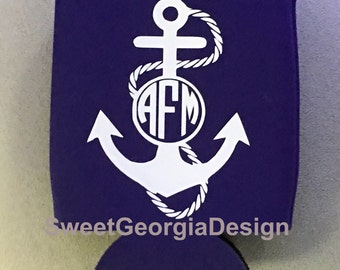 Monogrammed Anchor Can Coolie/Cooler!