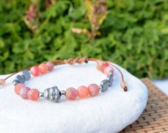 Inspirational Bracelet, Grounding Yoga Bracelet, Yoga  Beaded Bracelet Women, Inspiration Jewelry, Yoga Jewelry, Yoga Gift for Women