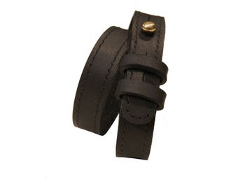 Project TransAction Leather Wrap Cuff