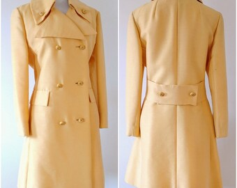 Vintage Lilli Ann Coat | 1960's Yellow Coat | 1960's Mod Jacket |