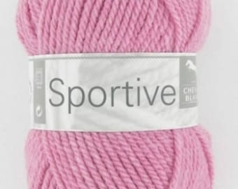 Wool knitting sports hydrangea No. 300 white horse