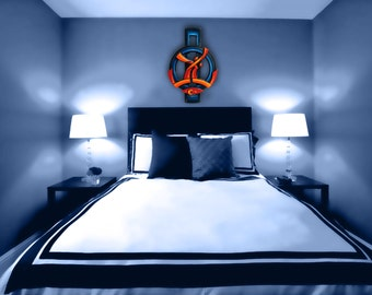 Wood Wall Sculpture - Abstract Wall Art - Fine Art Painting - Original Artwork - Modern Contemporary Art - Office Wall Art - CristherArt