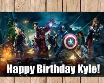 Marvel Superhero Vinyl Banner