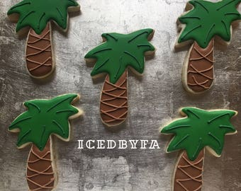 Coconut tree sugar cookies
