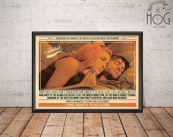 Eternal Sunshine Of The Spotless Mind Poster - Quote Retro Movie Poster - Movie Print, Film Poster, Wall Art