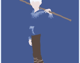 CLEARANCE:  Rise of the Guardians Jack Frost inspired minimalism print