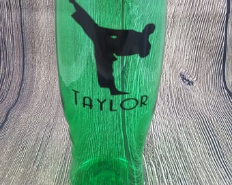 KARATE water Bottle Personalized, 27 oz Custom Transparent Kids Sports water bottle, KARATE water bottle party favor, martial arts favor