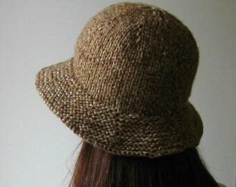 Branda Cloche Hat PDF Knitting Pattern - Bucket Hat - Instant Download
