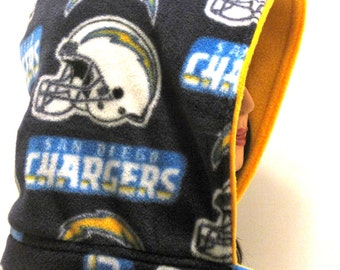 San Diego Chargers,Handmade, Hood, san diego, hooded scarf, scoody, football, sports,scarves