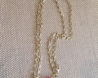 Baby Feet Charm Necklace with Pink Crystals- Footprints- Baby- Mother to be Necklace-Baby Girl- Gift For Her