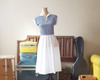 Roman Holiday Navy Striped Dress