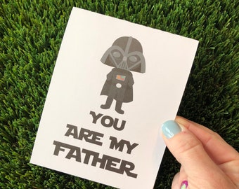 Funny Father's Day Card / Happy Father's Day  Card for Dad / Funny card for dad / Star Wars Father's Day Card / Star Wars Card for Dad