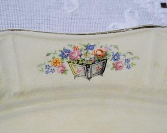 Vintage Oval Platter Edwin Knowles Floral Design Planter Vintage China Dish Chippy PanchosPorch